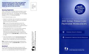 Primary view of object titled '2011 Long Term Care Provider Workshops'.