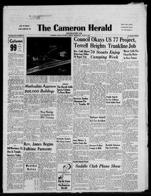 Primary view of object titled 'The Cameron Herald (Cameron, Tex.), Vol. 99, No. 19, Ed. 1 Thursday, June 5, 1958'.