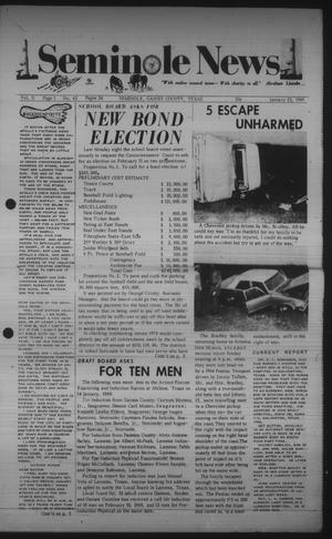 Primary view of object titled 'Seminole News (Seminole, Tex.), Vol. 2, No. 43, Ed. 1 Wednesday, January 22, 1969'.