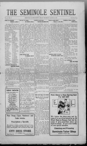 Primary view of object titled 'The Seminole Sentinel (Seminole, Tex.), Vol. 14, No. 51, Ed. 1 Thursday, March 10, 1921'.