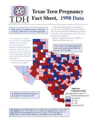Texas Teen Pregnancy Fact Sheet: 1998, Texas Teen Pregnancy Fact Sheet, 1998 Data, Texas Teen Pregnancy Fact Sheet...