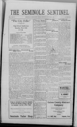 Primary view of object titled 'The Seminole Sentinel (Seminole, Tex.), Vol. 16, No. 32, Ed. 1 Thursday, November 2, 1922'.