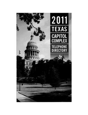 Primary view of object titled 'Texas Capitol Complex Telephone Directory: 2011'.