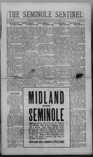 Primary view of object titled 'The Seminole Sentinel (Seminole, Tex.), Vol. 24, No. 36, Ed. 1 Thursday, December 4, 1930'.