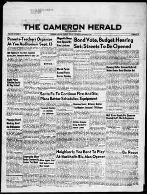 Primary view of object titled 'The Cameron Herald (Cameron, Tex.), Vol. 97, No. 23, Ed. 1 Thursday, September 6, 1956'.