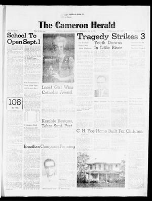 Primary view of object titled 'The Cameron Herald (Cameron, Tex.), Vol. 106, No. 23, Ed. 1 Thursday, August 26, 1965'.