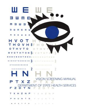 Primary view of object titled 'Vision Screening Manual'.