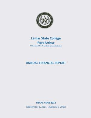 Primary view of object titled 'Lamar State College Port Arthur Annual Financial Report: 2012'.