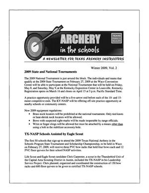 Primary view of object titled 'Archery in the Schools, Volume 2, Winter 2009'.