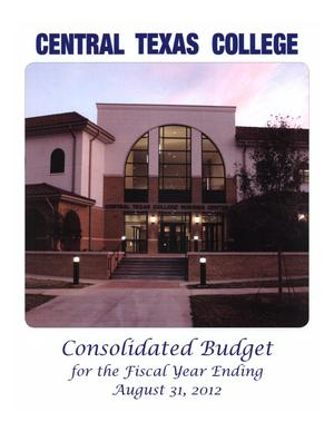Primary view of object titled 'Central Texas College Budget: 2012'.