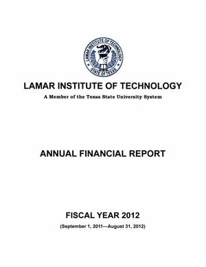 Primary view of object titled 'Lamar Institute of Technology Annual Financial Report: 2012'.