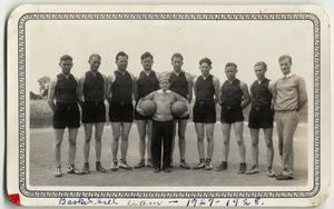 Primary view of object titled '[Basketball team at Lutheran Concordia College]'.