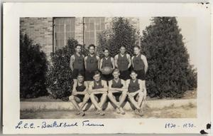 Primary view of object titled '[Lutheran Concordia College basketball team]'.
