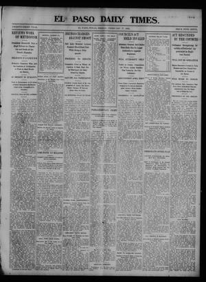 Primary view of object titled 'El Paso Daily Times. (El Paso, Tex.), Vol. 23, Ed. 1 Friday, February 27, 1903'.