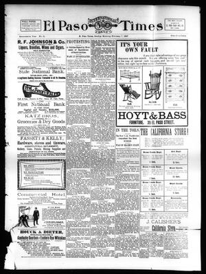 Primary view of object titled 'El Paso International Daily Times (El Paso, Tex.), Vol. 17, No. 27, Ed. 1 Sunday, February 7, 1897'.