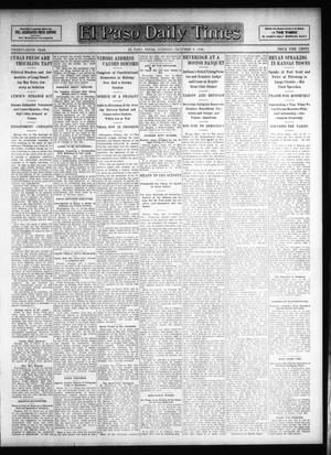 Primary view of object titled 'El Paso Daily Times (El Paso, Tex.), Vol. 26, Ed. 1 Tuesday, October 9, 1906'.