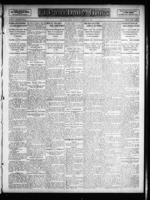 Primary view of object titled 'El Paso Daily Times (El Paso, Tex.), Vol. 26, Ed. 1 Saturday, March 16, 1907'.