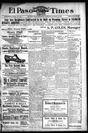 Primary view of El Paso International Daily Times (El Paso, Tex.), Vol. 19, No. 254, Ed. 1 Thursday, October 19, 1899