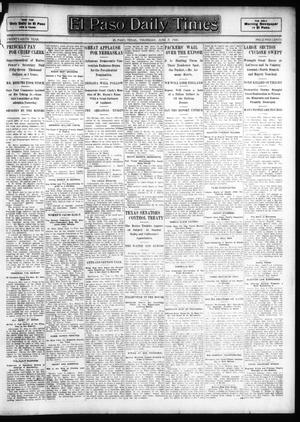 Primary view of object titled 'El Paso Daily Times (El Paso, Tex.), Vol. 26, Ed. 1 Thursday, June 7, 1906'.