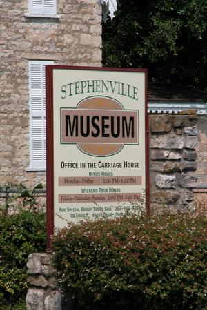 Primary view of object titled 'Stephenville Museum Sign'.