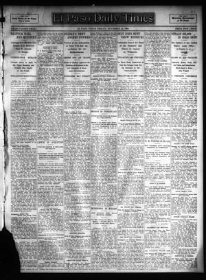 Primary view of object titled 'El Paso Daily Times (El Paso, Tex.), Vol. 25, Ed. 1 Friday, November 24, 1905'.