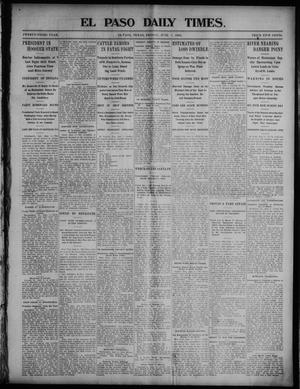 Primary view of object titled 'El Paso Daily Times. (El Paso, Tex.), Vol. 23, No. 22, Ed. 1 Friday, June 5, 1903'.