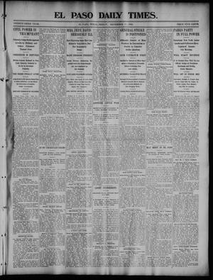 Primary view of object titled 'El Paso Daily Times. (El Paso, Tex.), Vol. 23, No. 134, Ed. 1 Friday, September 25, 1903'.