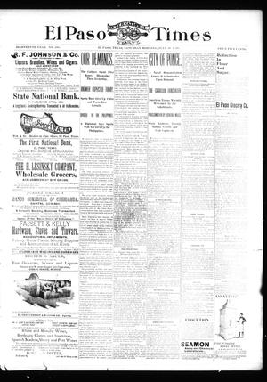 Primary view of object titled 'El Paso International Daily Times (El Paso, Tex.), Vol. 18, No. 181, Ed. 1 Saturday, July 30, 1898'.