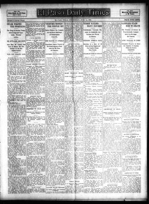 Primary view of object titled 'El Paso Daily Times (El Paso, Tex.), Vol. 25, Ed. 1 Wednesday, June 14, 1905'.