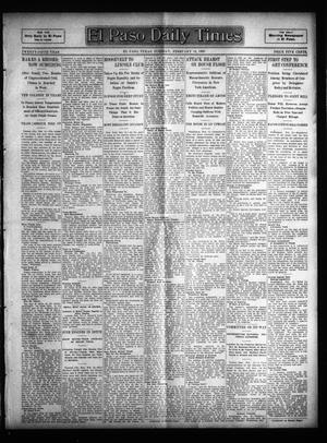 Primary view of object titled 'El Paso Daily Times (El Paso, Tex.), Vol. 25, Ed. 1 Tuesday, February 14, 1905'.