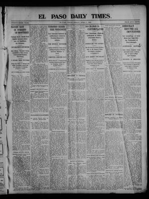 Primary view of object titled 'El Paso Daily Times. (El Paso, Tex.), Vol. 23, Ed. 1 Friday, April 3, 1903'.