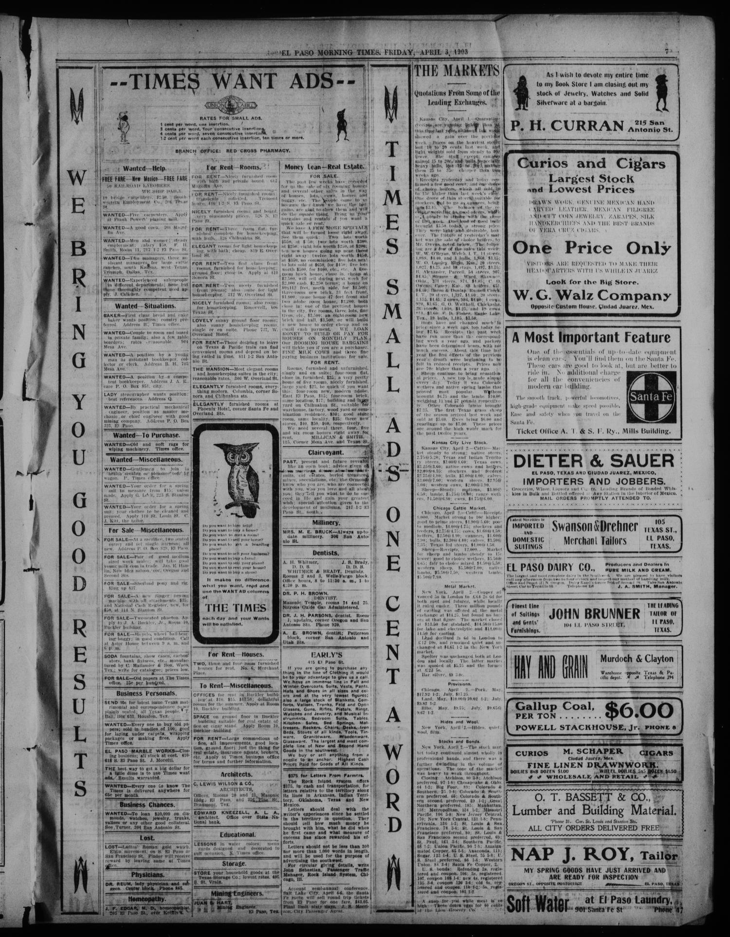 El Paso Daily Times  (El Paso, Tex ), Vol  23, Ed  1 Friday