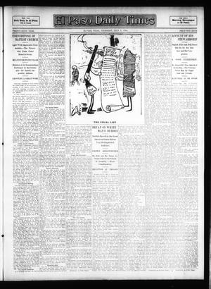Primary view of object titled 'El Paso Daily Times (El Paso, Tex.), Vol. 26, Ed. 1 Thursday, July 5, 1906'.
