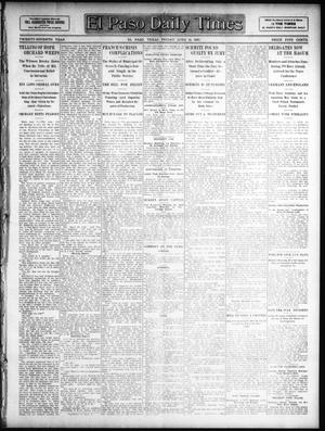 Primary view of object titled 'El Paso Daily Times (El Paso, Tex.), Vol. 27, Ed. 1 Friday, June 14, 1907'.
