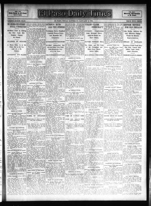 Primary view of object titled 'El Paso Daily Times (El Paso, Tex.), Vol. 26, Ed. 1 Saturday, January 6, 1906'.