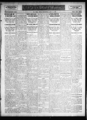 Primary view of object titled 'El Paso Daily Times (El Paso, Tex.), Vol. 27, Ed. 1 Wednesday, July 17, 1907'.