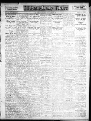 Primary view of object titled 'El Paso Daily Times (El Paso, Tex.), Vol. 27, Ed. 1 Saturday, April 13, 1907'.