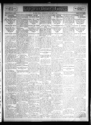 Primary view of object titled 'El Paso Daily Times (El Paso, Tex.), Vol. 26, Ed. 1 Wednesday, January 3, 1906'.
