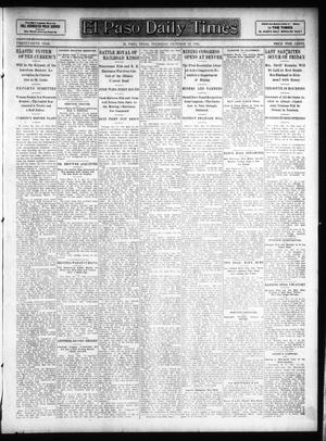 Primary view of object titled 'El Paso Daily Times (El Paso, Tex.), Vol. 26, Ed. 1 Thursday, October 18, 1906'.