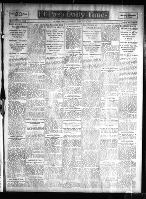 Primary view of object titled 'El Paso Daily Times (El Paso, Tex.), Vol. 26, Ed. 1 Saturday, January 13, 1906'.