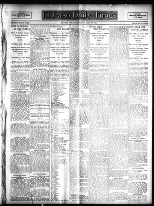 Primary view of object titled 'El Paso Daily Times (El Paso, Tex.), Vol. 25, Ed. 1 Saturday, July 22, 1905'.