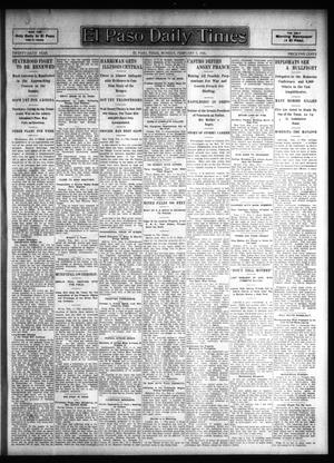 Primary view of object titled 'El Paso Daily Times (El Paso, Tex.), Vol. 26, Ed. 1 Monday, February 5, 1906'.