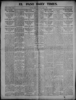 Primary view of object titled 'El Paso Daily Times. (El Paso, Tex.), Vol. 23, Ed. 1 Saturday, May 2, 1903'.