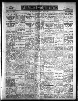 Primary view of object titled 'El Paso Daily Times (El Paso, Tex.), Vol. 25, Ed. 1 Saturday, April 29, 1905'.