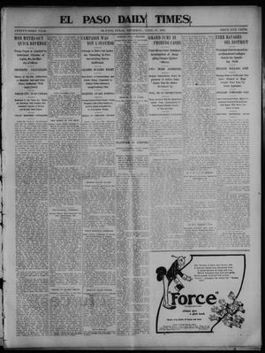Primary view of object titled 'El Paso Daily Times. (El Paso, Tex.), Vol. 23, Ed. 1 Thursday, April 16, 1903'.