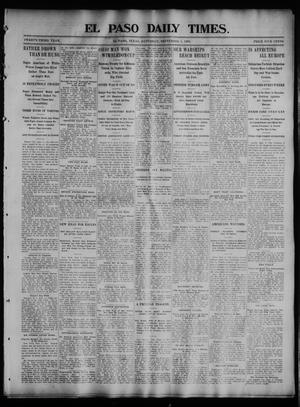 Primary view of object titled 'El Paso Daily Times. (El Paso, Tex.), Vol. 23, No. 114, Ed. 1 Saturday, September 5, 1903'.