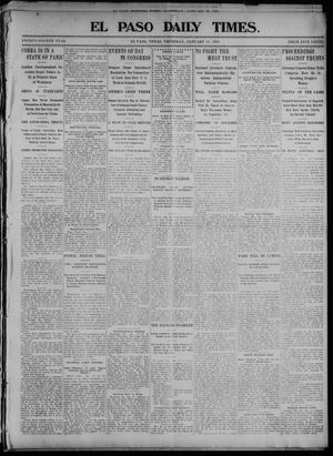 Primary view of object titled 'El Paso Daily Times. (El Paso, Tex.), Vol. 24, Ed. 1 Thursday, January 14, 1904'.