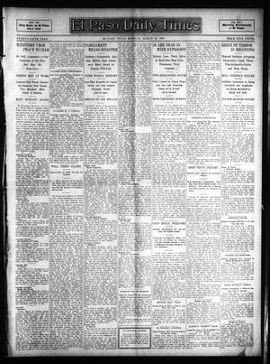 Primary view of object titled 'El Paso Daily Times (El Paso, Tex.), Vol. 25, Ed. 1 Monday, March 20, 1905'.