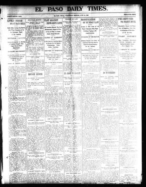 Primary view of object titled 'El Paso Daily Times. (El Paso, Tex.), Vol. 22, Ed. 1 Wednesday, June 18, 1902'.