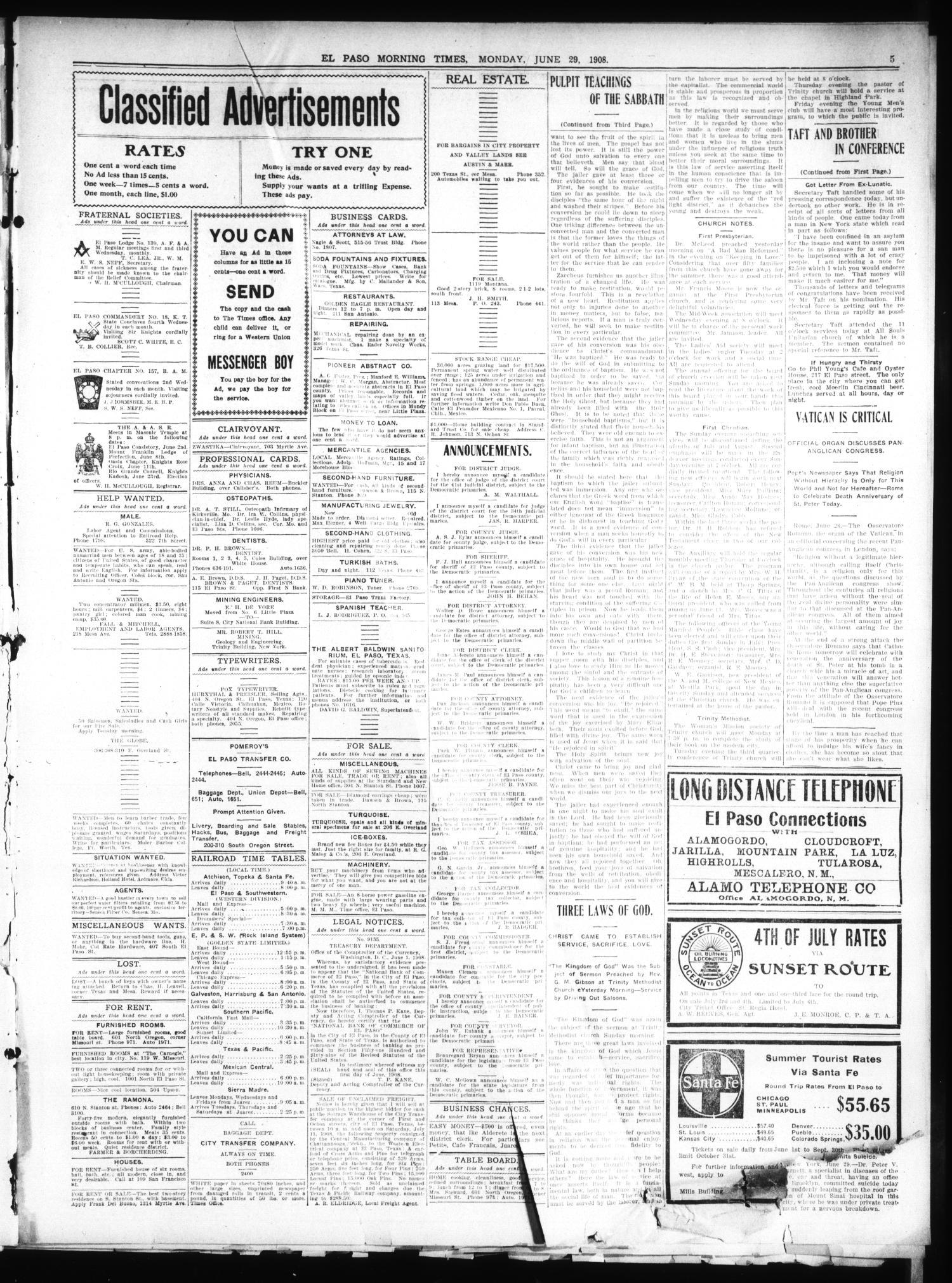 El Paso Daily Times El Paso Tex Vol 28 Ed 1 Monday June